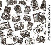 hand drawing retro photo... | Shutterstock .eps vector #603086039