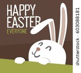 happy easter everyone. easter... | Shutterstock .eps vector #603088181