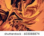 Abstract Marbled Painting Warm...