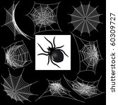 set with a spider's webs and...
