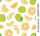 illustration of a pattern with... | Shutterstock .eps vector #603097589