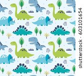 vector illustration seamless... | Shutterstock .eps vector #603101654