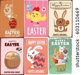 vintage easter egg poster... | Shutterstock .eps vector #603110669