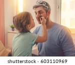 Dad With Cute Daughter Beeing...