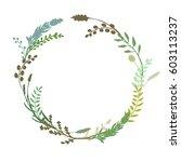 a vector wreath isolated on... | Shutterstock .eps vector #603113237
