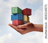 cargo shipping support concept... | Shutterstock . vector #603114071