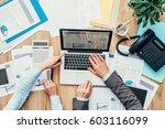 business people working... | Shutterstock . vector #603116099