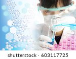 medical concept image genome | Shutterstock . vector #603117725