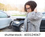 injured woman feeling bad after ... | Shutterstock . vector #603124067