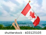 young man's hands proudly... | Shutterstock . vector #603125105