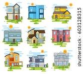 houses illustration vector set | Shutterstock .eps vector #603128315