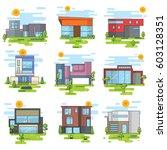 houses illustration vector set | Shutterstock .eps vector #603128351