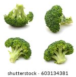 fresh green broccoli in... | Shutterstock . vector #603134381