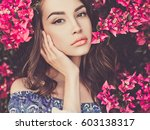 outdoor fashion photo of... | Shutterstock . vector #603138317