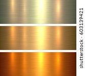 metal gold texture background ... | Shutterstock .eps vector #603139421