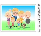 family memorial photo three... | Shutterstock .eps vector #603145139