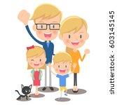 family of four | Shutterstock .eps vector #603145145