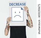 sadness fail problem recession... | Shutterstock . vector #603150671