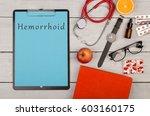medecine concept   clipboard... | Shutterstock . vector #603160175