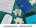 """puzzle pieces with text """"tax... 