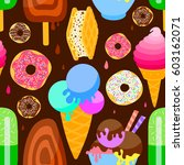 seamless pattern with colored... | Shutterstock .eps vector #603162071