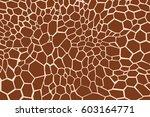 giraffe texture pattern  brown... | Shutterstock .eps vector #603164771