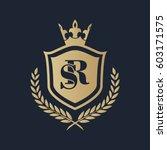 sr logo | Shutterstock .eps vector #603171575