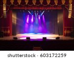 the stage of the theater... | Shutterstock . vector #603172259