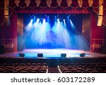 the stage of the theater... | Shutterstock . vector #603172289