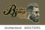 hipster barbershop. hand drawn... | Shutterstock .eps vector #603172451