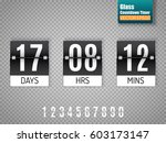 black countdown timer with... | Shutterstock .eps vector #603173147