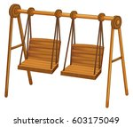 swinging seats on white | Shutterstock .eps vector #603175049