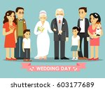 wedding of elderly people... | Shutterstock .eps vector #603177689
