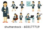 set of businesswoman characters ... | Shutterstock .eps vector #603177719