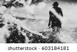surfer on the wave  catches a... | Shutterstock . vector #603184181