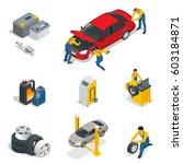 mechanic and car repair ... | Shutterstock .eps vector #603184871