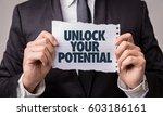 unlock your potential | Shutterstock . vector #603186161