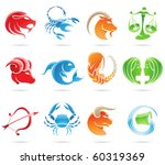 glowing zodiacs isolated on a... | Shutterstock .eps vector #60319369