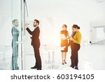 young male creative manager on...   Shutterstock . vector #603194105