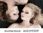 Glamour Makeup Two Women With...