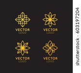 vector icon style logo sign of  ... | Shutterstock .eps vector #603197204