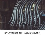 tube   pipe products hanged in... | Shutterstock . vector #603198254