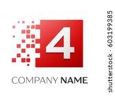 number four vector logo symbol...