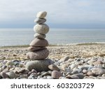 Stone Tower On The Beach