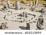 stone forest   fabulous rock... | Shutterstock . vector #603213899
