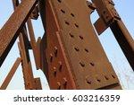 oxidized rusty metal parts | Shutterstock . vector #603216359