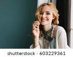 close up portrait of gorgeous... | Shutterstock . vector #603229361