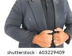 business man standing and... | Shutterstock . vector #603229409