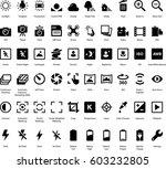 camera settings icon set | Shutterstock .eps vector #603232805