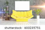 modern bright interior with... | Shutterstock . vector #603235751